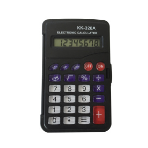 8 Digits Foldable Pocket Calculator with Cover