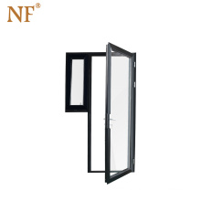 Double-leaf Fire-rated Glass Pivot Door with Tempered glass