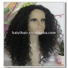 Bonitas pelucas delanteras de encaje rizado