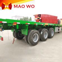 Novo Semi-trailer Preço 4 Eixo 12m Flatbed