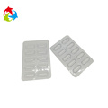 10 holes capsule clear plastic pill blister tray