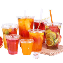 Manufacture plastic PP PET PS cup for cold drink with cheapest price