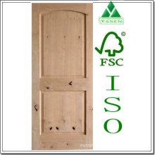 Porta de madeira levantada sulco do amieiro do painel V-sulco