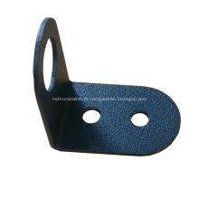 Suporte de montagem de chave seletora de metal preto revestido a pó