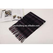lenço de lã de mongolia interior check.tartan
