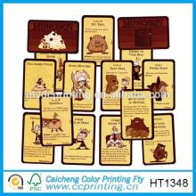 2015 Kundenspezifische Bestellung glänzend Spielkarten gedruckt