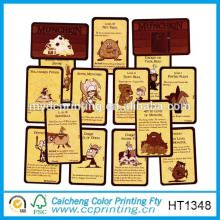 2015 Customized order glossy playing cards printed