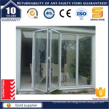 Puerta plegable de aluminio de la nueva entrada del diseño / puerta plegable doble
