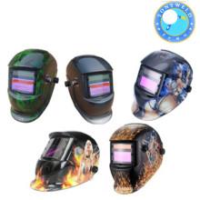 Auto darking welding helmet with air filter