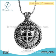 Fashion design stainless steel vial pendant,pendant jewel,skull head pendant