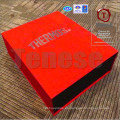 Caja de embalaje de cierre magnético rojo de alta gama