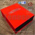 Caixa de embalagem de fechamento magnético vermelho grande