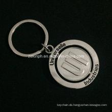 Benutzerdefinierte Nickel Beschichtung Zink Legierung drehbare Schlüsselanhänger für Promotion-Zwecke