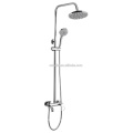 KDS-09 in-stock factory price shower hose shower mixer set solid copper bathroom with big ring handle rain shower with slide bar