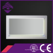Holzrahmen LED Backlit Touch Screen Badezimmer Spiegel mit Uhr