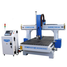 1325 3D Wood Carving CNC Router, 4 Axis Woodworking Engraver, MDF Wood Board Cutting Machine, Round Cylinder Mold Engraving CNC