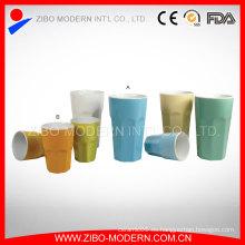 Wholesaletwo-Tone color taza de café de cerámica sin mango