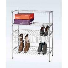 Modern 4 Tier DIY Adjustable Chrome Steel Shoe Shelf Holder Factory