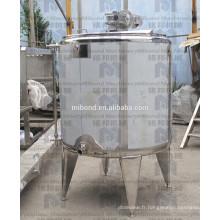 Réservoir de mélange à double / simple enveloppe faite sur commande d'acier inoxydable 304 / 316L avec l'agitateur