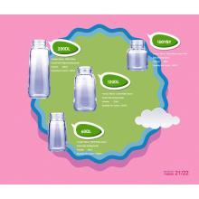 Botella de alimentación de bebé de vidrio borosilicato neutro. Botella de leche