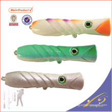 PPL012 baratos aparejos de pesca cebo artificial pesca popper señuelo para el agua salada