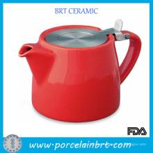 Tetera de cerámica popular caliente con infusor de acero inoxidable