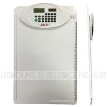 A4 Taille 8 chiffres Dual Power Clipboard Calculator avec règle (LC632WT)