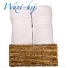 Serviettes de bain en coton blanc pur de luxe pour l'hôtel