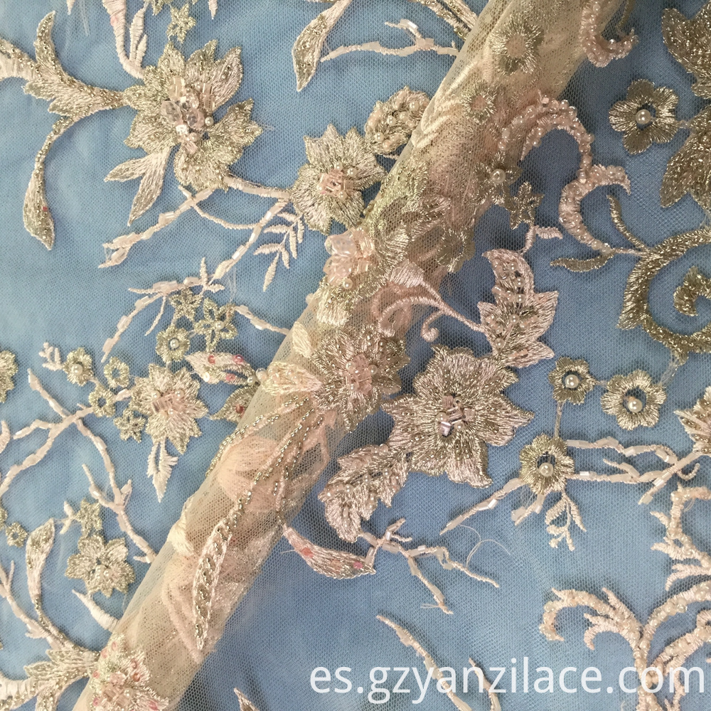 Embroidered Lace 3d Flower Fabric