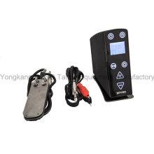 Fuente de alimentación del tatuaje del LCD de calidad superior para la máquina del tatuaje incluyendo el cable del pedal y del clip