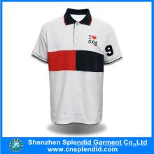 Mais recente design de alta qualidade simples homens camisa branca polo