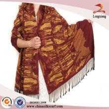 Cachemire qualité en soie Peinture brossée extra long chouches pashmina