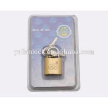small size brass spray padlock