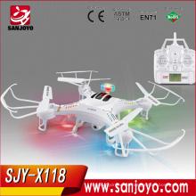 Nuevo quadcopter del tamaño medio del UFO X118 rc de 2.4Ghz con el ufo del intruso de las luces