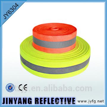 cinta de advertencia de seguridad reflectante amarillo