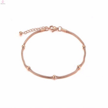 Fancy Wholesale Jewelry Chinese Character Stainless Steel Charms Anklet Bracelet