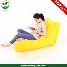 Amarillo chesterfield sandwich beanbag, sofá cama de color brillante