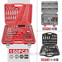 """150pc 1/4 """", 3/8"""", 1/2 """"Set de douilles, clé à douille multifonctions, ensemble d'outils à main de haute qualité, ensemble d'outils ménagers"""