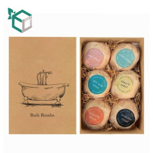 Common Use Kraft Paper Packaging Bath Bomb Set Pack