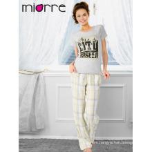 Miorre OEM Women's Turkish Cotton Quality Summer Season Sleepwear Pajamas Set
