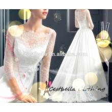 Custom Made de alta qualidade lindo vestido de noiva vestido de noiva