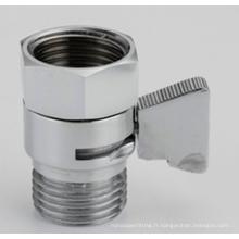 Mini vanne d'arrêt chromée et valve de contrôle de flux pour le pommeau de douche tenu dans la main, valve de bidet de Shattaf