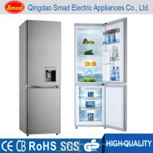 Комбинация двойной дверью лучший холодильник компактный холодильник с диспенсером для воды