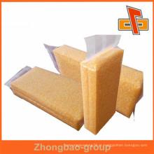 Alta barreira de nylon transparente personalizado saco de vácuo para embalagem de niblet ou milho