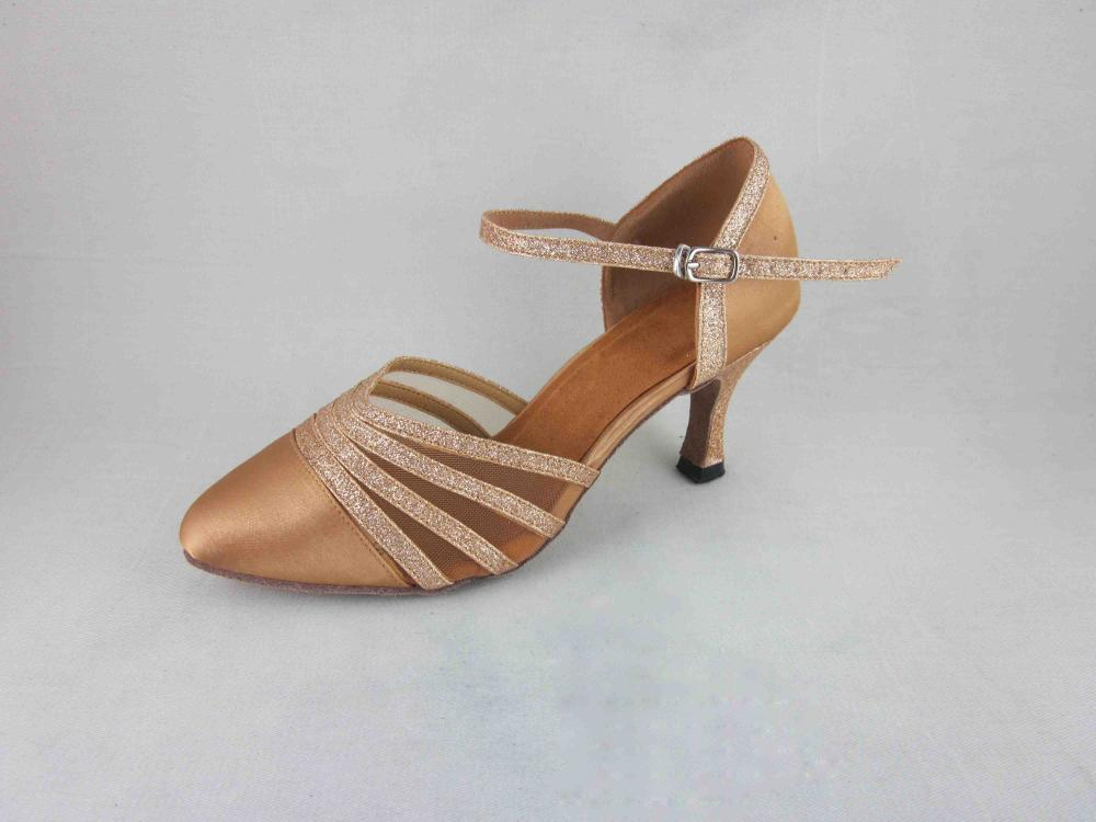 Flesh Satin Dance Shoes Ca