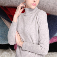Camisola de inverno com tricô com pescoço alto, camisola feminina de cashmere tricô