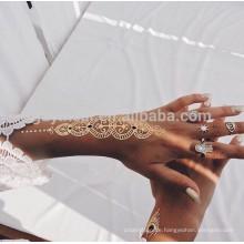 Indien Henna Style Persönlichkeit Wassertransfer Tattoo Indien Henna Körper temporäre Tattoos