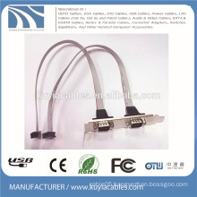 2 Ports Rs-232 DB9 Bracket Cable