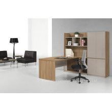 Secretária de madeira moderno com Hutch, Secretária de pessoal com armário de arquivo, Secretária com biblioteca de gabinete (HF-ZTHT2122)
