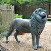 Decoração popular do jardim estátua do leão de bronze antigo